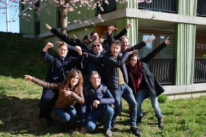 équipe de tournage de Terre Commune